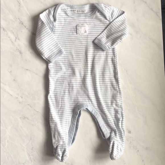 bfd7409fe Burt's Bees Baby Pajamas | Burts Bees Bluegray Striped Footed | Poshmark
